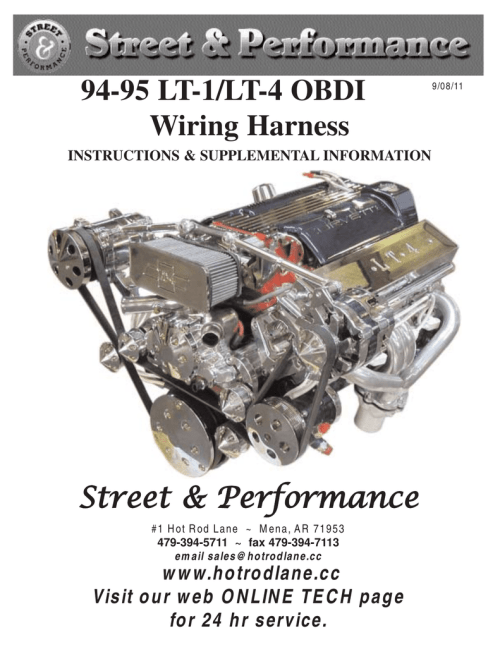 small resolution of 94 95 lt 1 lt 4 obdi wiring harness street performance