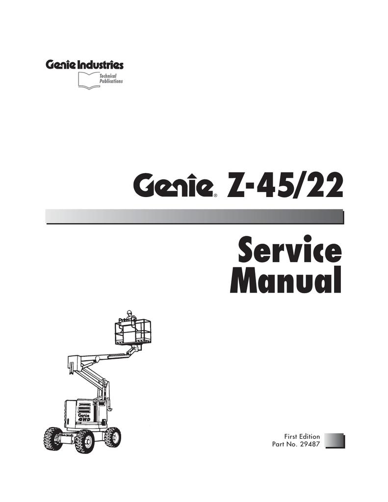 genie z 45 25 z 45 25j ic power complete workshop service