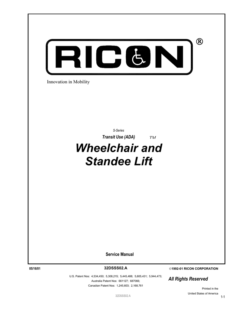ricon lift wiring diagram lawn mower starter s series manual pwt maintenance software manualzz com