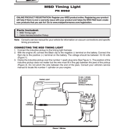 timing light wiring diagram [ 791 x 1024 Pixel ]