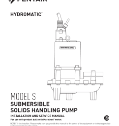 model s pentair water literature [ 791 x 1024 Pixel ]