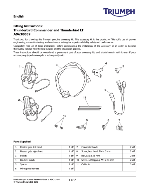 small resolution of english fitting instructions thunderbird commander and