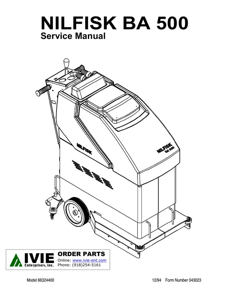 Advenger 2800st Service Manual