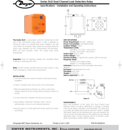 l 44 10 31 07 11 22 am page 1 bulletin l 44 series dld dual channel leak detection relay specifications installation and operating instructions the series  [ 819 x 1024 Pixel ]