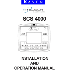 scs 4000 installation and operation manual notice the use of the suspension type fertilizers and lime slurries will significantly reduce the life of the  [ 791 x 1024 Pixel ]