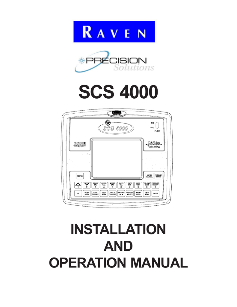 hight resolution of scs 4000 installation and operation manual notice the use of the suspension type fertilizers and lime slurries will significantly reduce the life of the