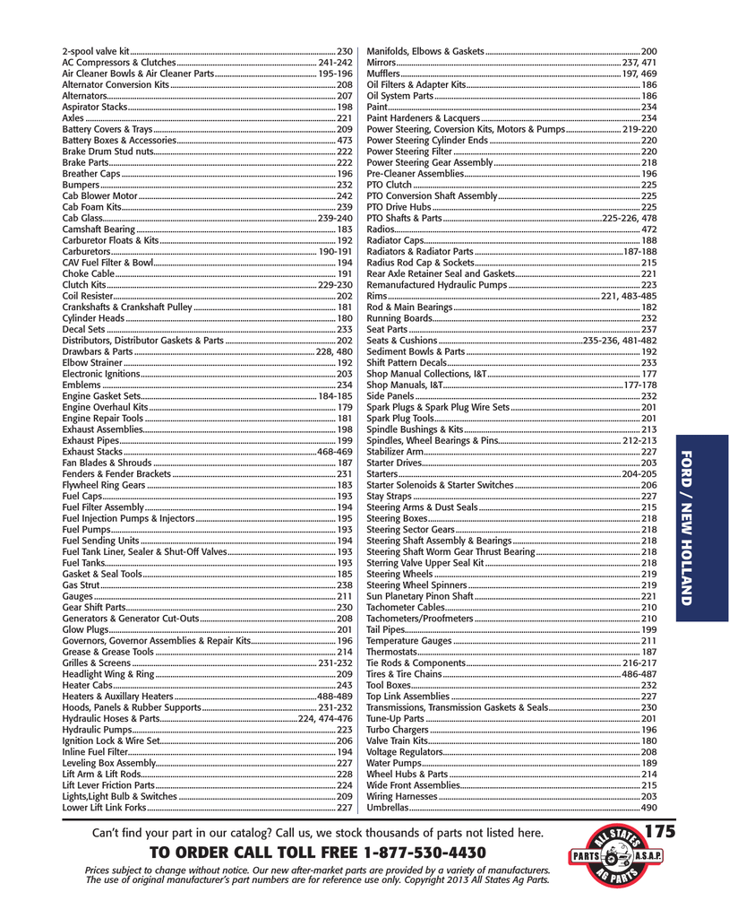 hight resolution of 2013 ford tractor parts catalog