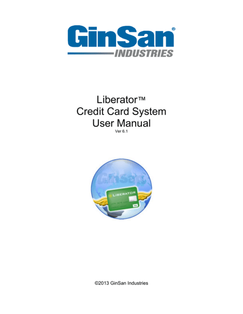 small resolution of liberator credit card system user manual