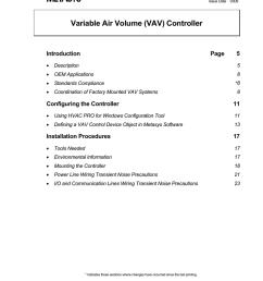 variable air volume vav controller technical bulletin [ 791 x 1024 Pixel ]