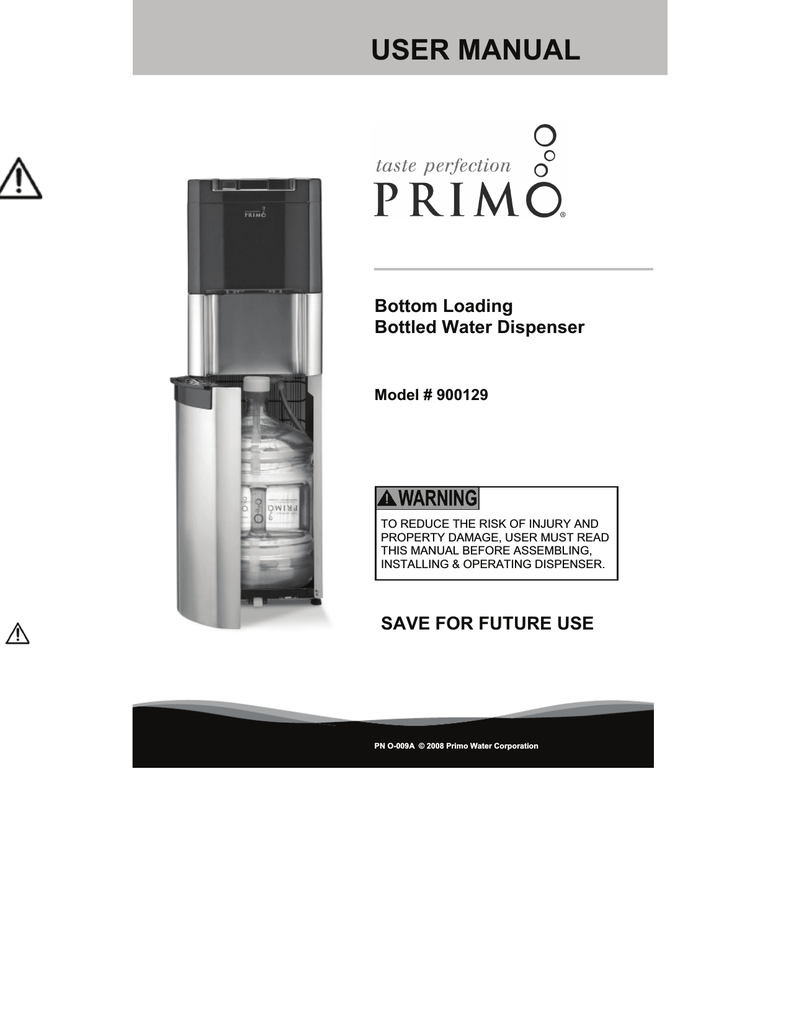 Primo Water Cleaning Instructions : primo, water, cleaning, instructions, MANUAL, Primo, Water, Store, Manualzz