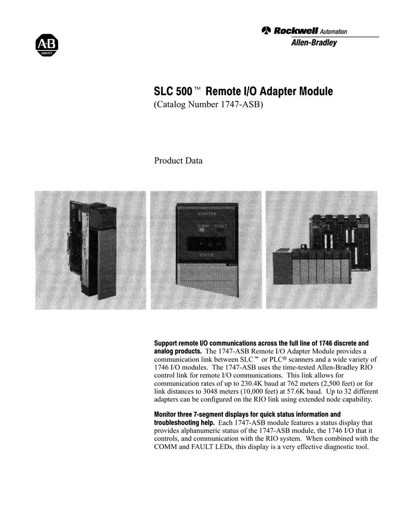 medium resolution of 1747 2 38 slc 500 remote i o adapter module