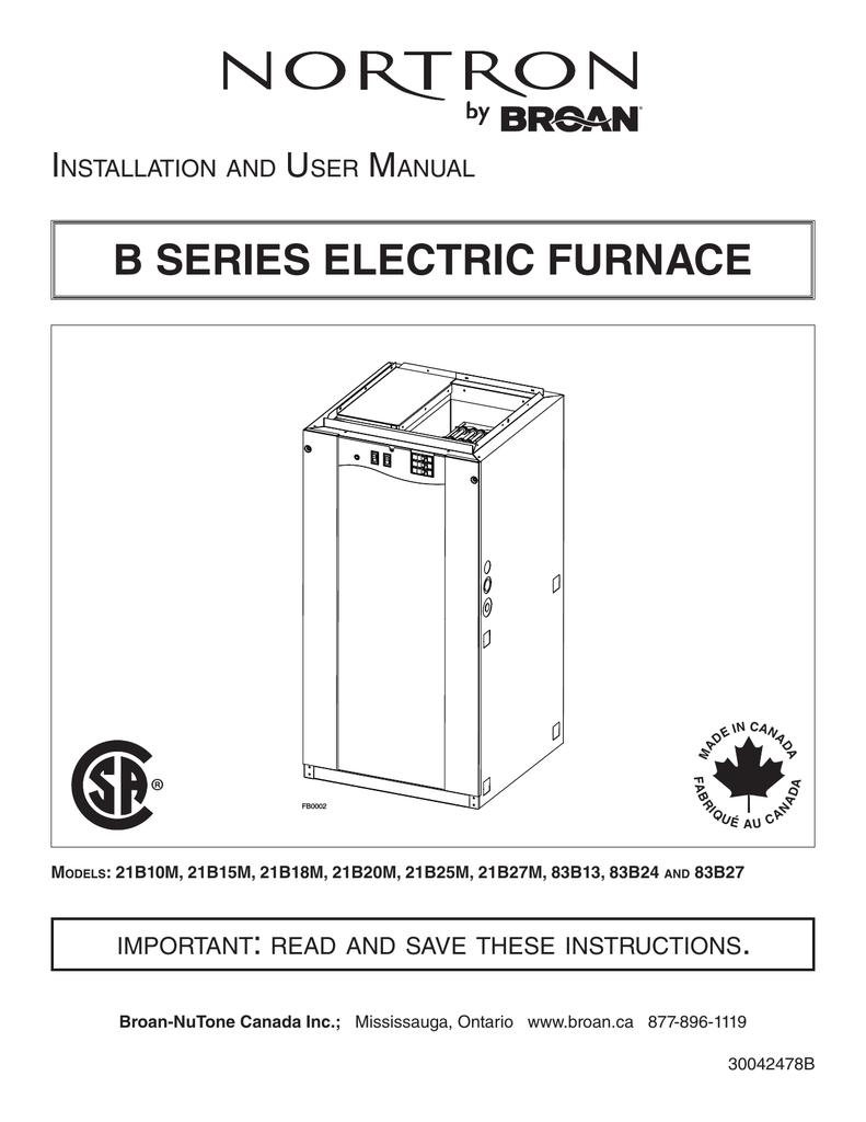 medium resolution of b series electric furnace 30042478b indd