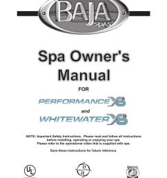 baja performance xs and whitewater xs 2006 manualzz com whitewater spa pump wiring diagram  [ 797 x 1024 Pixel ]
