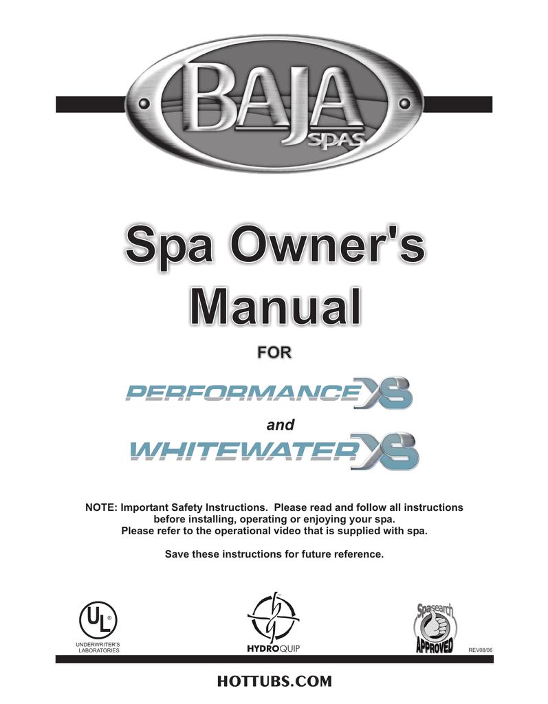 medium resolution of baja performance xs and whitewater xs 2006 manualzz com whitewater spa pump wiring diagram
