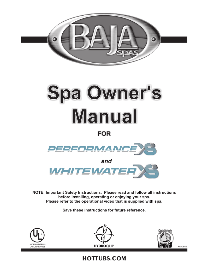 hight resolution of baja performance xs and whitewater xs 2006 manualzz com whitewater spa pump wiring diagram
