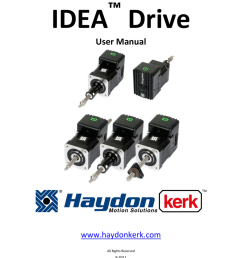 idea drive user manual haydon kerk motion solutions [ 791 x 1024 Pixel ]