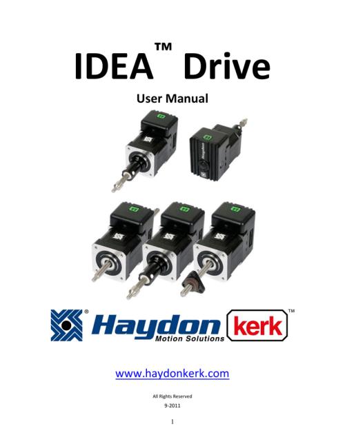 small resolution of idea drive user manual haydon kerk motion solutions