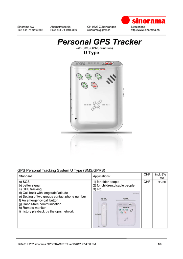Setting Gprs Telkomsel Via Sms : setting, telkomsel, Sinorama, Personal, Tracker, Manualzz