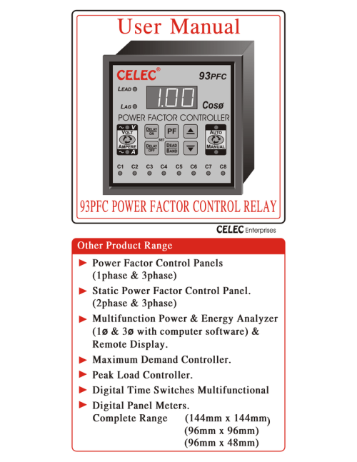 small resolution of user manual apfc relay cat no 93 pfc
