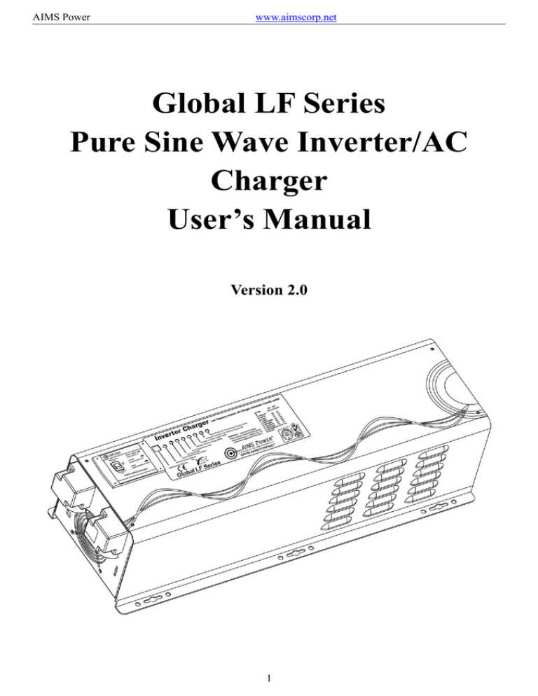 Global LF Series Pure Sine Wave Inverter/AC Charger User`s