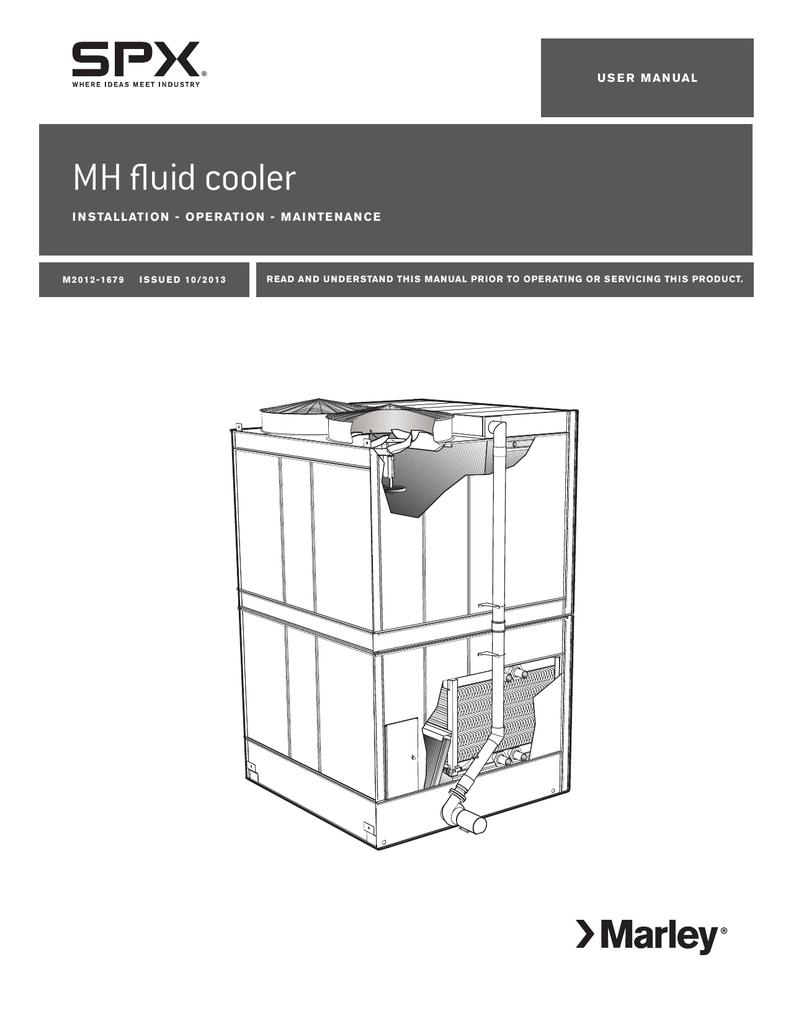 medium resolution of marley mh fluid cooler installation operation and maintenance