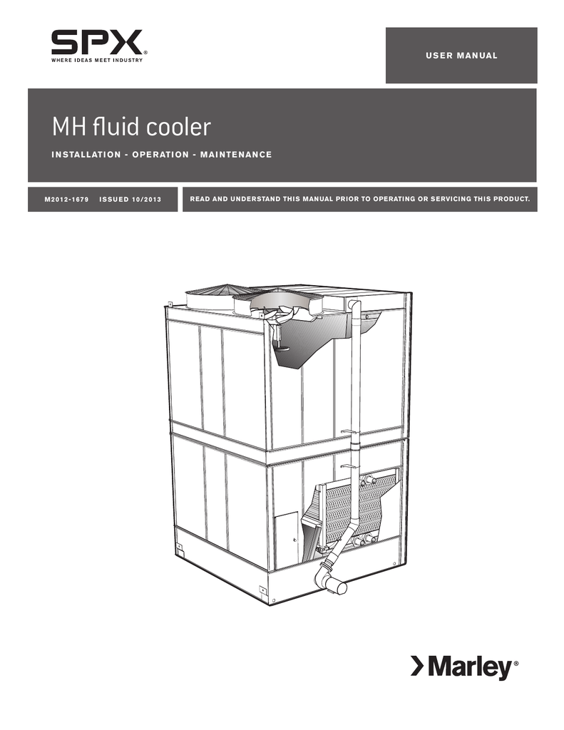 hight resolution of marley mh fluid cooler installation operation and maintenance