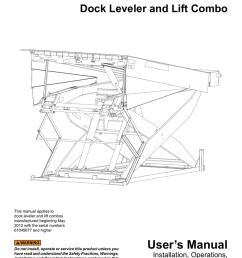 dock leveler and lift combo this manual applies to dock leveler and lift combos manufactured beginning may 2012 with the serial numbers 61045677 and higher  [ 791 x 1024 Pixel ]