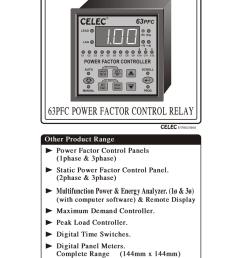 user manual apfc relay cat no 63 pfc [ 791 x 1024 Pixel ]