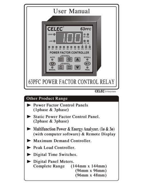 small resolution of user manual apfc relay cat no 63 pfc