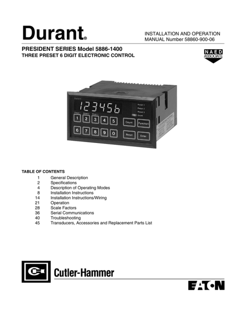 small resolution of president series model 58861400 user manual