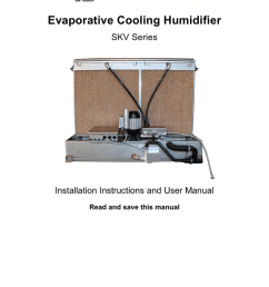 evaporative cooling humidifier evaporative cooling humidifier evaporative cooling humidifier skv series installation instructions and user manual  [ 791 x 1024 Pixel ]