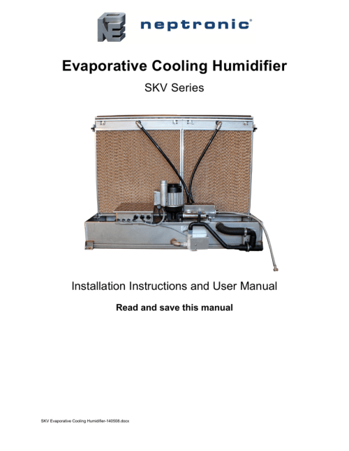 small resolution of evaporative cooling humidifier evaporative cooling humidifier evaporative cooling humidifier skv series installation instructions and user manual