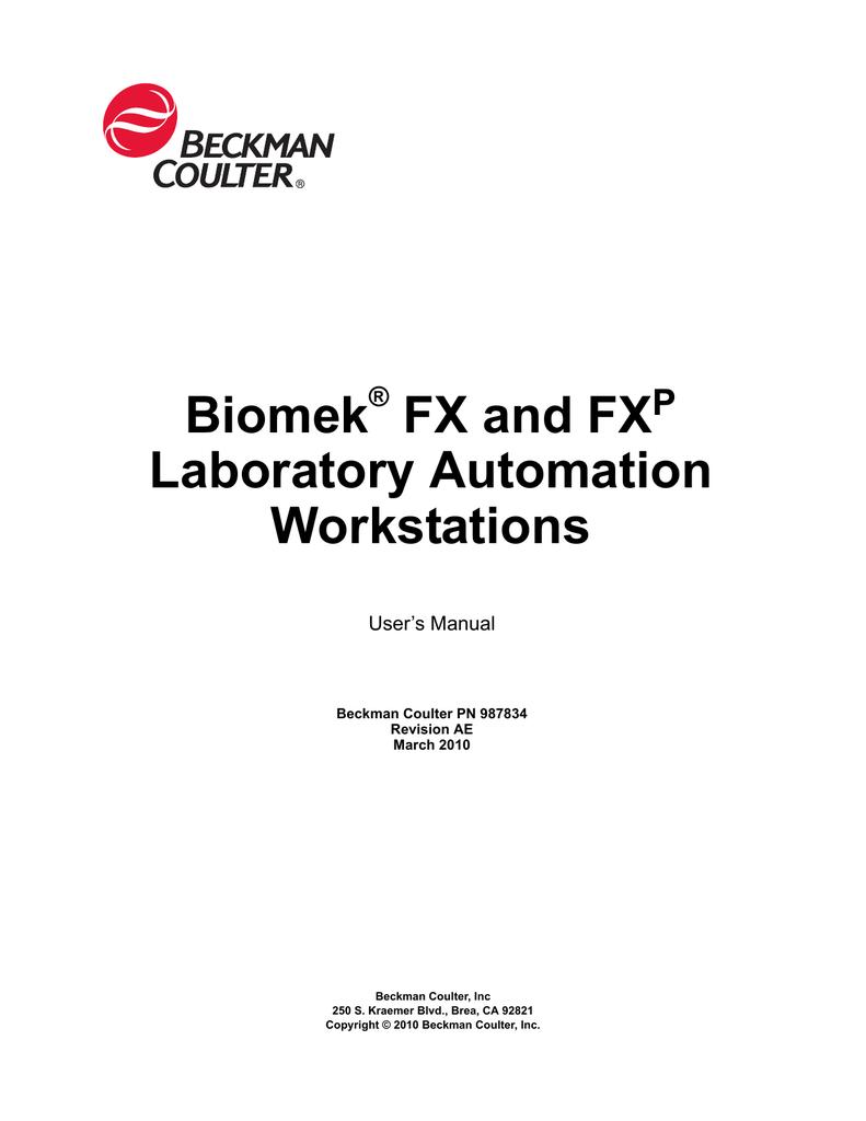 Biomek FX and FXp Laboratory Automation Workstations