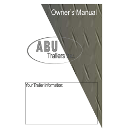 abu trailers inc owner s manual [ 791 x 1024 Pixel ]