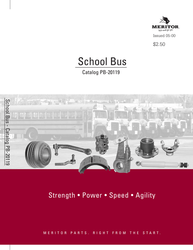hight resolution of meritor school bus brake components
