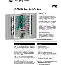 plc to tlc upgrade card genesis lighting control [ 791 x 1024 Pixel ]