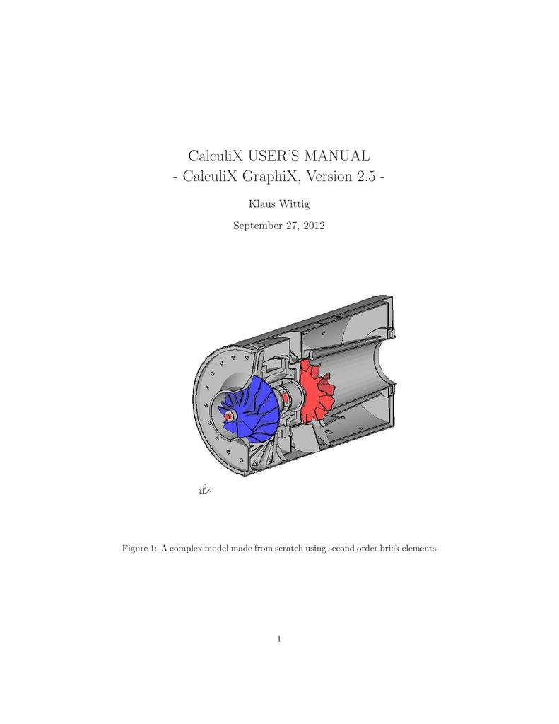 CALCULIX MANUAL PDF