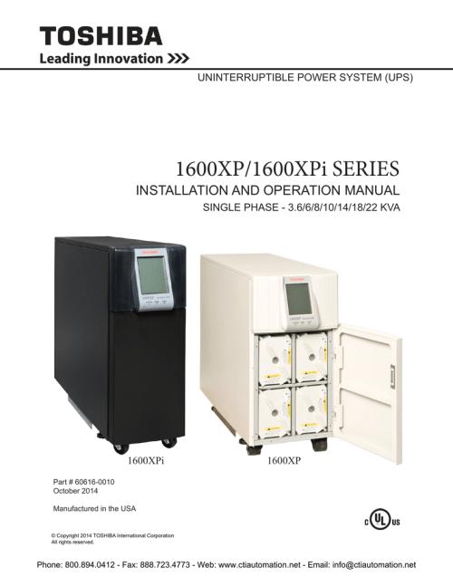 small resolution of toshiba 1600xp 1600xpi series installation manualzz com toshiba 1600 xp wiring diagram