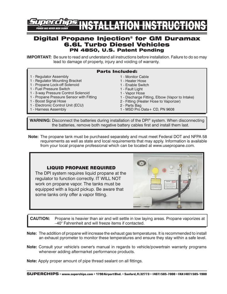 medium resolution of digital propane injection for gm duramax 6 6l turbo diesel