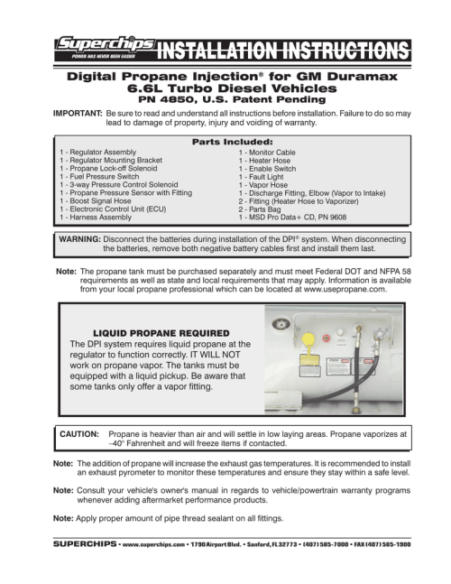 small resolution of digital propane injection for gm duramax 6 6l turbo diesel