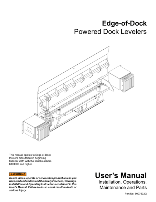 small resolution of user s manual curlin inc manualzz com dock leveler curtain dock leveler schematic
