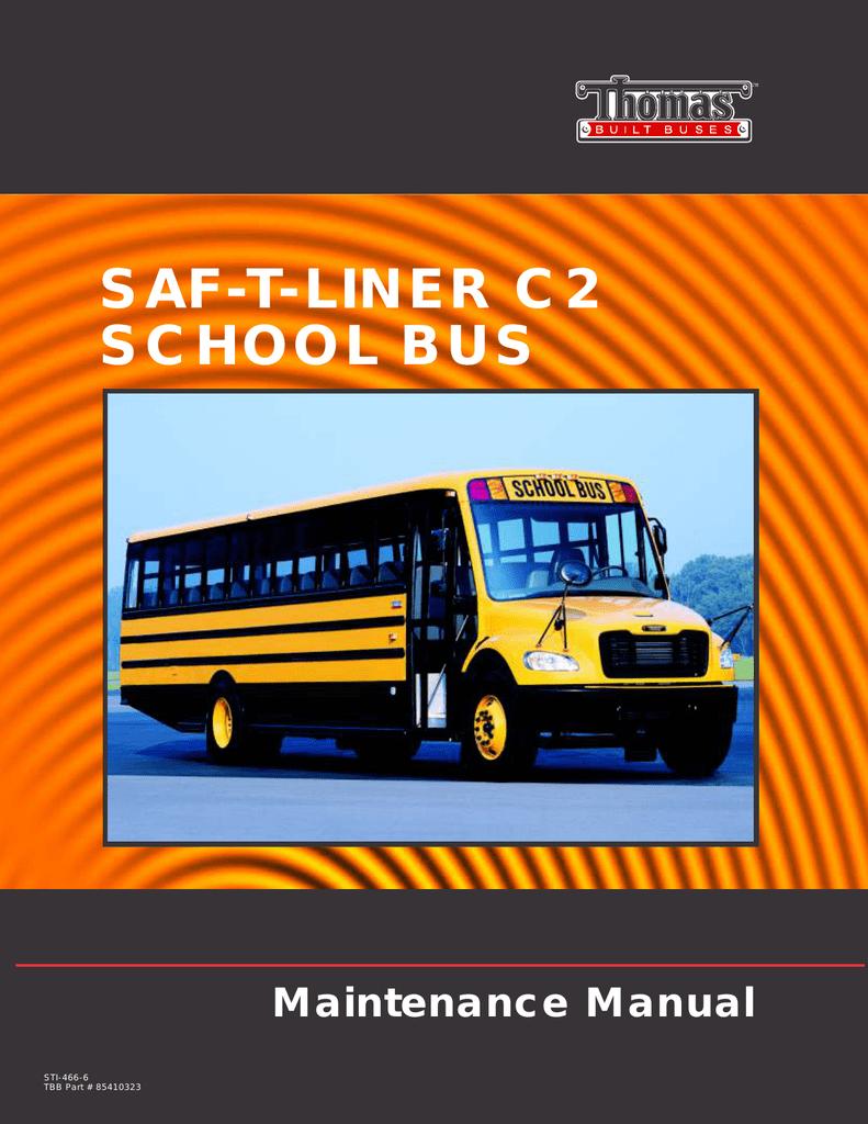 medium resolution of saf t liner c2 school bus maintenance manual