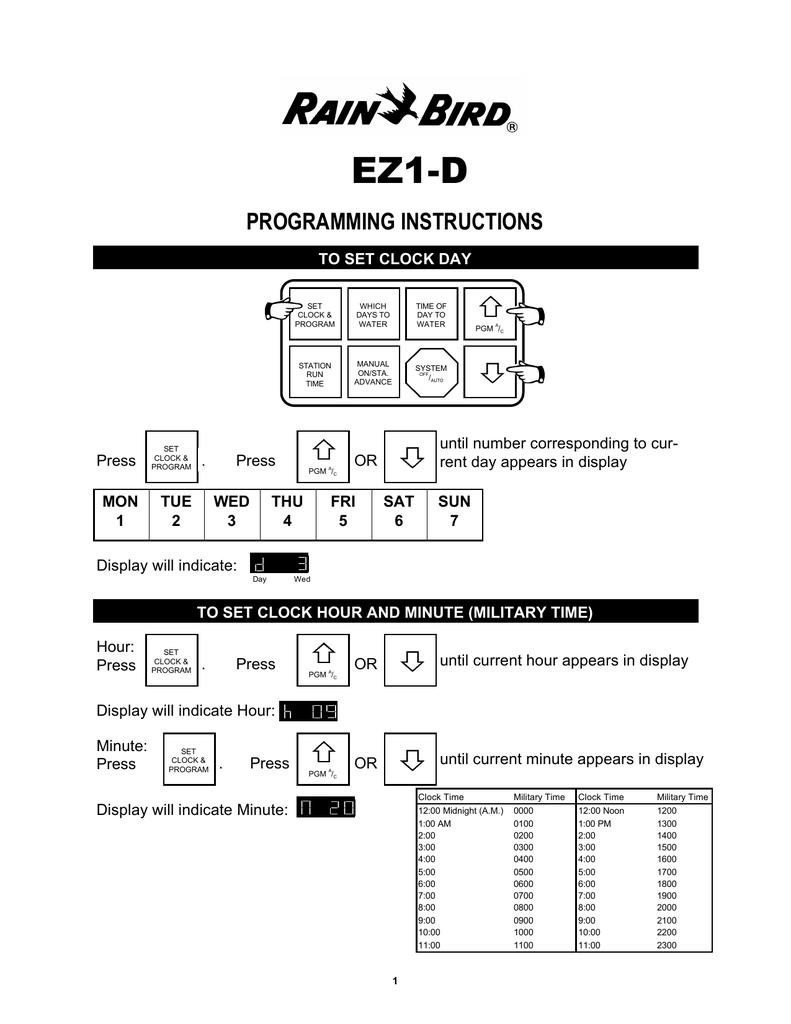 medium resolution of rain bird ez1 d user manual