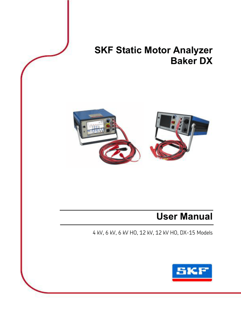 medium resolution of skf static motor analyzer baker dx user manual