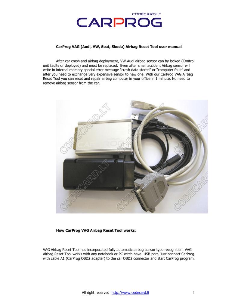 hight resolution of  array carprog vw audi airbag reset manual manualzz com rh manualzz
