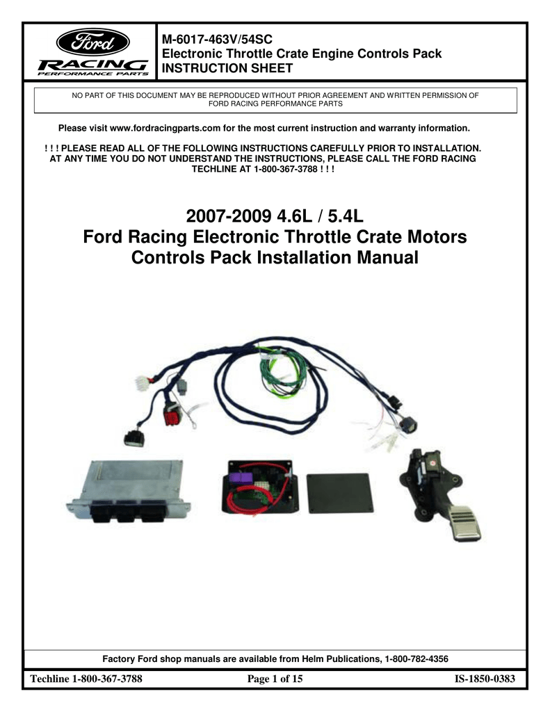 hight resolution of 2007 2009 4 6 l 5 4 l ford racing electronic
