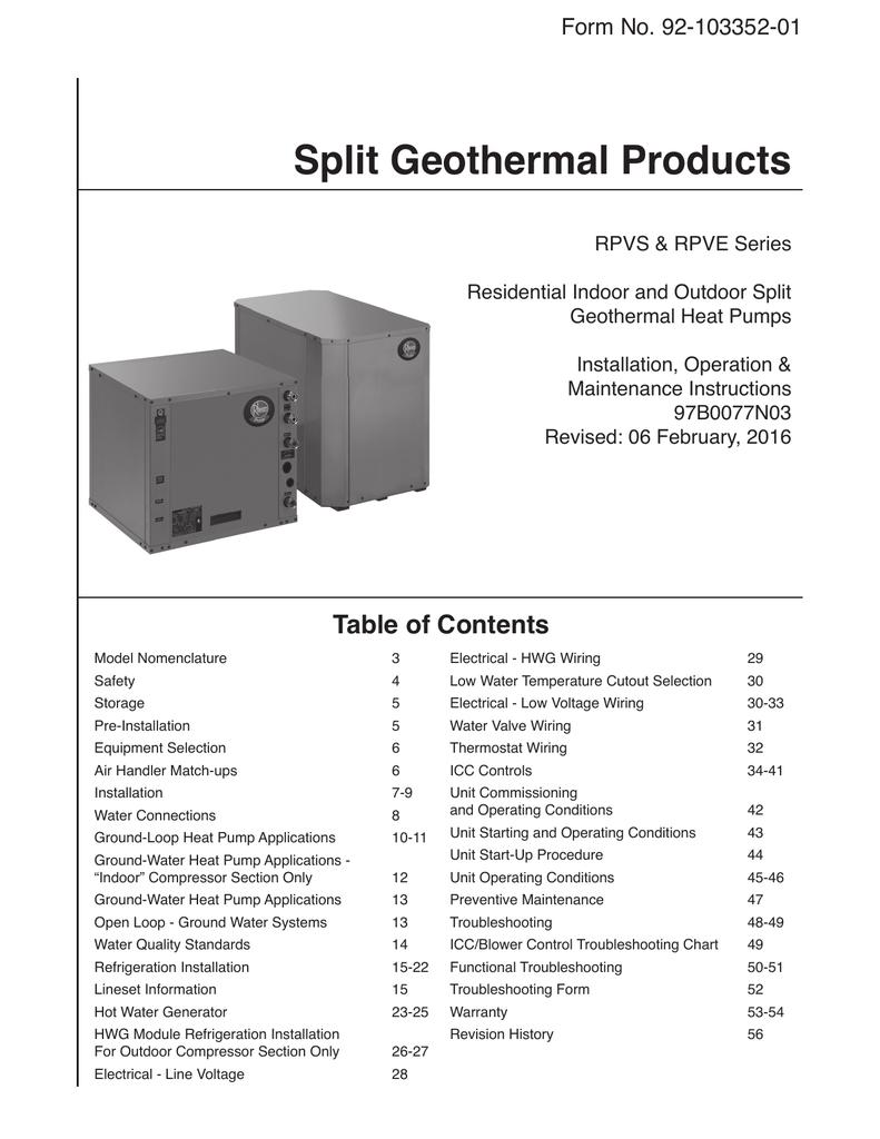 hight resolution of installation manual rheem geothermal systems