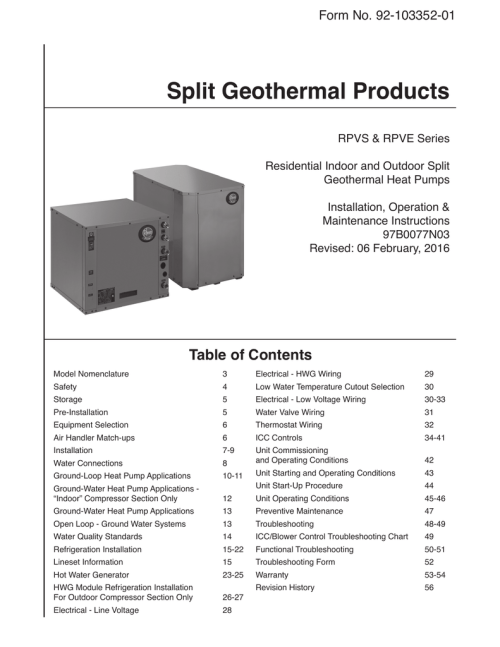 small resolution of installation manual rheem geothermal systems