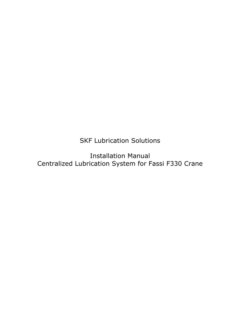 medium resolution of skf lubrication solutions installation manual centralized