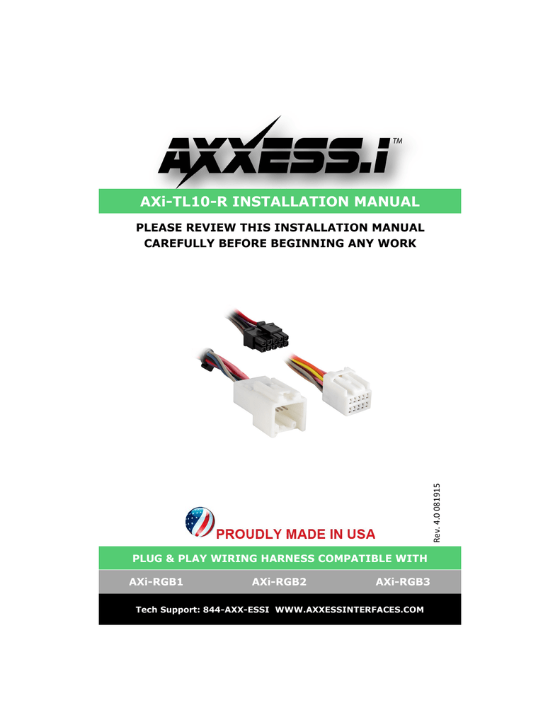 hight resolution of axi tl10 r installation manual